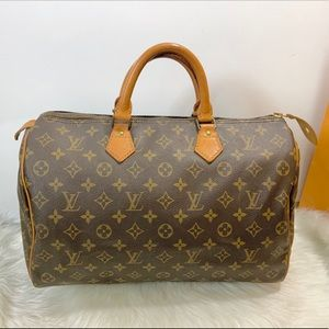 100%Authentic Louis Vuitton 1988 Vintage Speedy 35